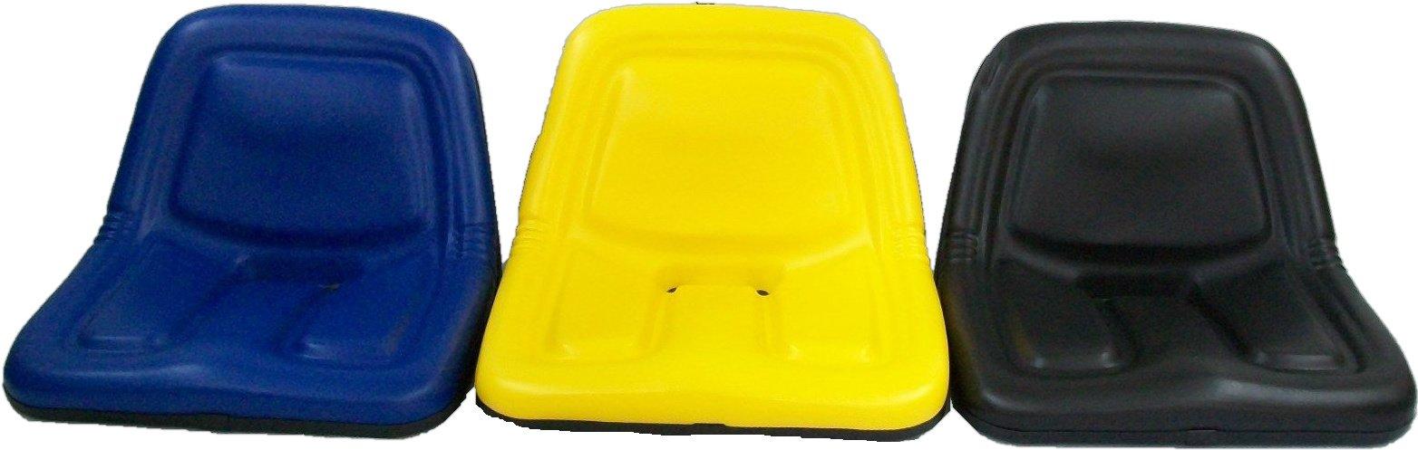 John Deere Metal Tractor Seat : Steel high back yellow black blue seats lawn mowers