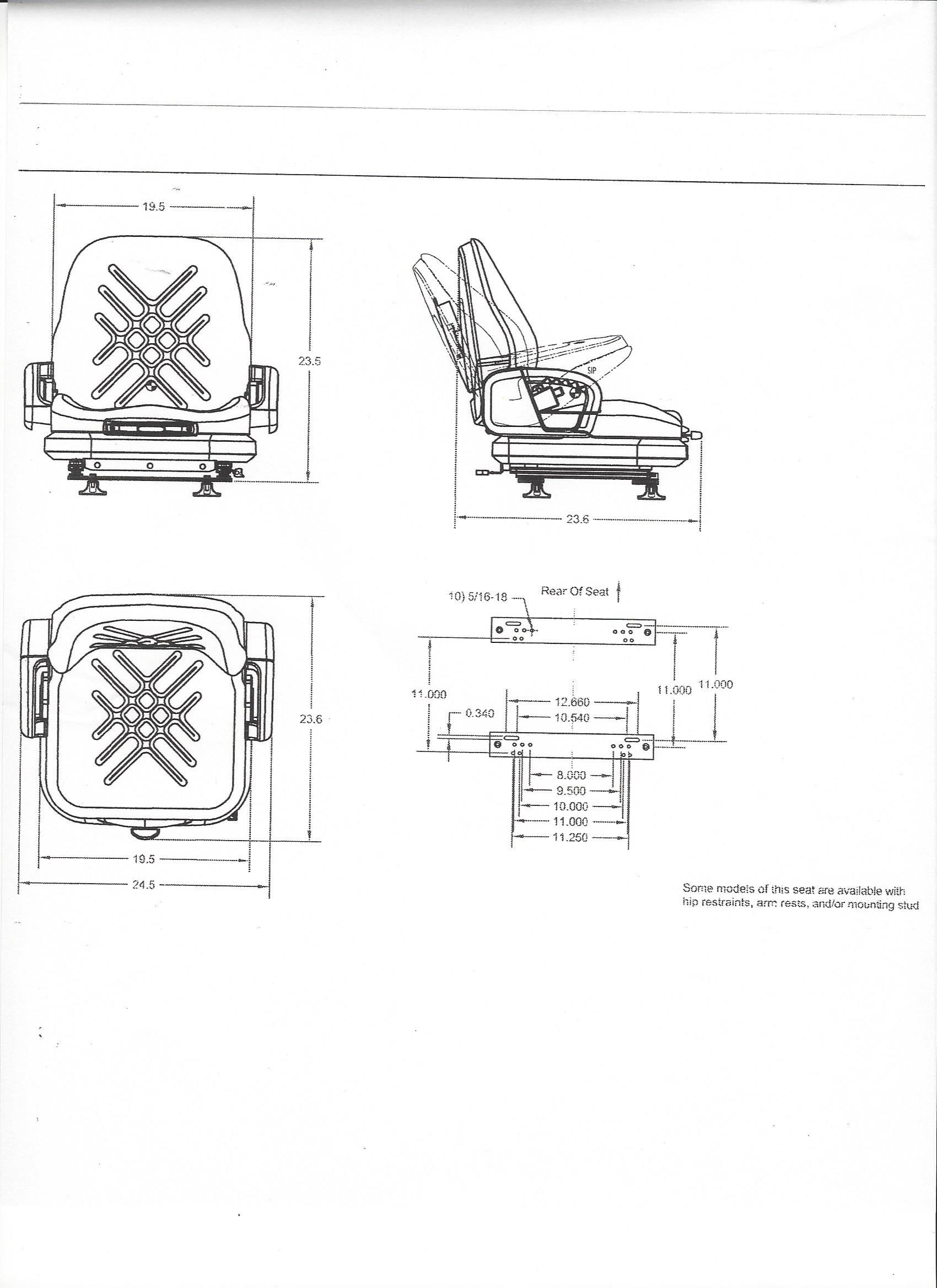 Premium integrated suspension seat for kubota r420 r520 wheel ea pooptronica