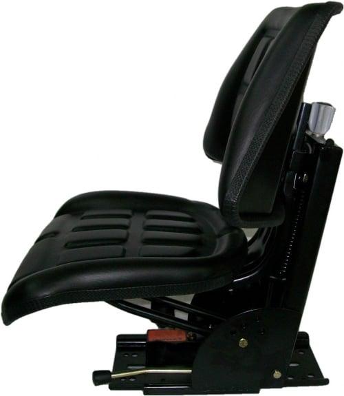 Utility Tractor Seats : Black trapezoid suspension seat farm utility compact