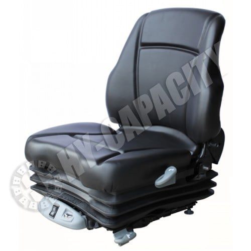 Air Suspension Seats For Forklifts : Black vinyl seat w air suspension hys