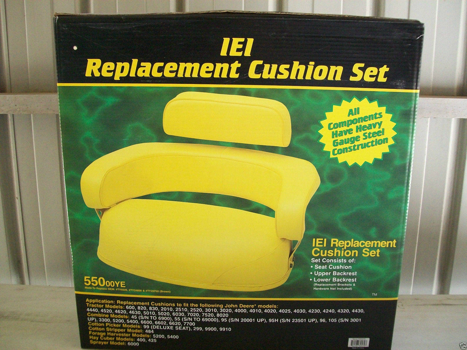 John Deere 4430 Tractor Seats Replacement : Seat warehouse fit john deere yellow piece