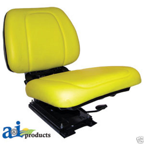 re62227 yellow seat assembly w suspension john deere tractor 5200 re62227 yellow seat assembly w suspension john deere