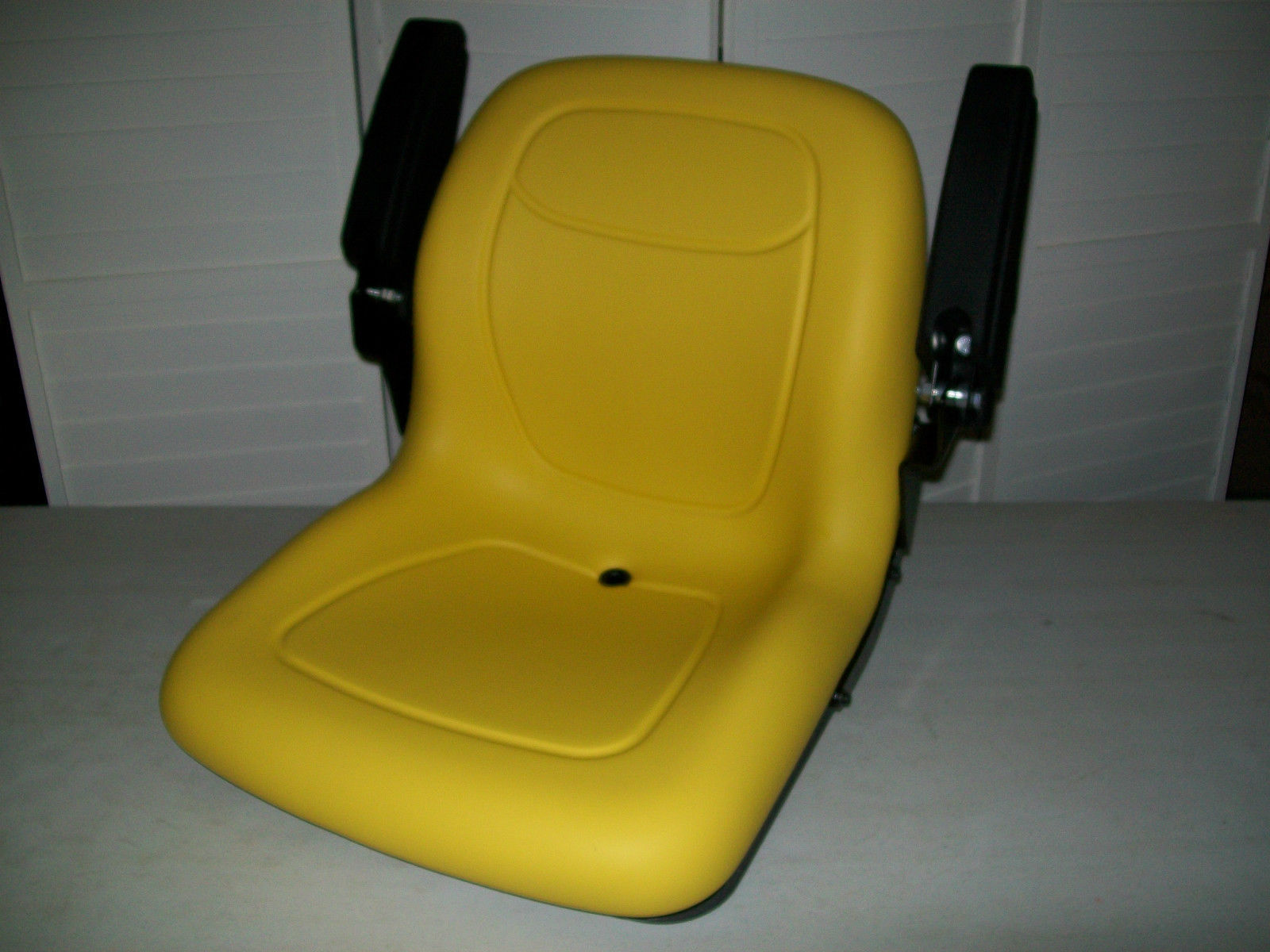 Compact Tractor Seats : Yellow seat w flip up arm rests fit john deere compact