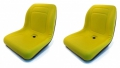 2-New-Yellow-HIGH-BACK-SEATS-John-Deere-GATORS-Fits-Many-Makes-Models-AI2-162914700796