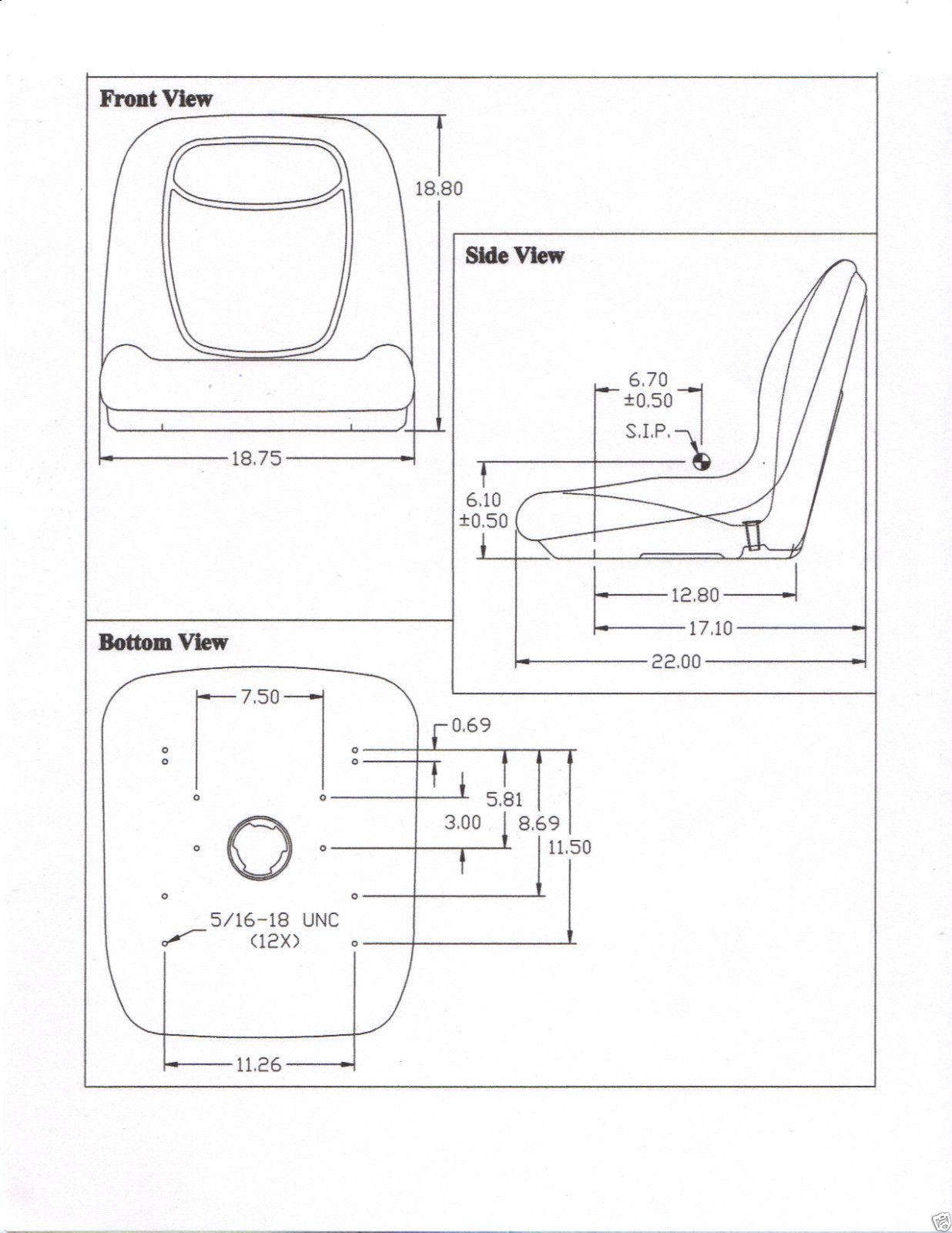 YELLOW SEAT FOR JOHN DEERE ZERO TURN MOWER Z TRAK M653M655M665717A727A BI 151699570196 7 yellow seat for john deere zero turn mower z trak, m653, m655 john deere 737 wiring diagram at nearapp.co