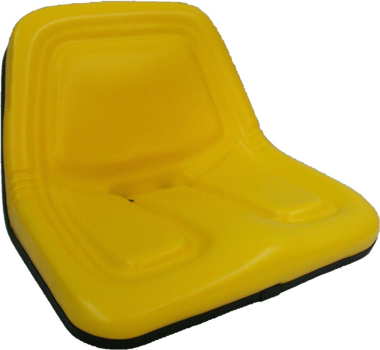 REPLACEMENT SEAT for JOHN DEERE 120, 130, 140, 160, 165, 214, 300, 312,  314, 316, 317, 318, 400 STX38 MOWERS STEEL PAN FRAME #BZ