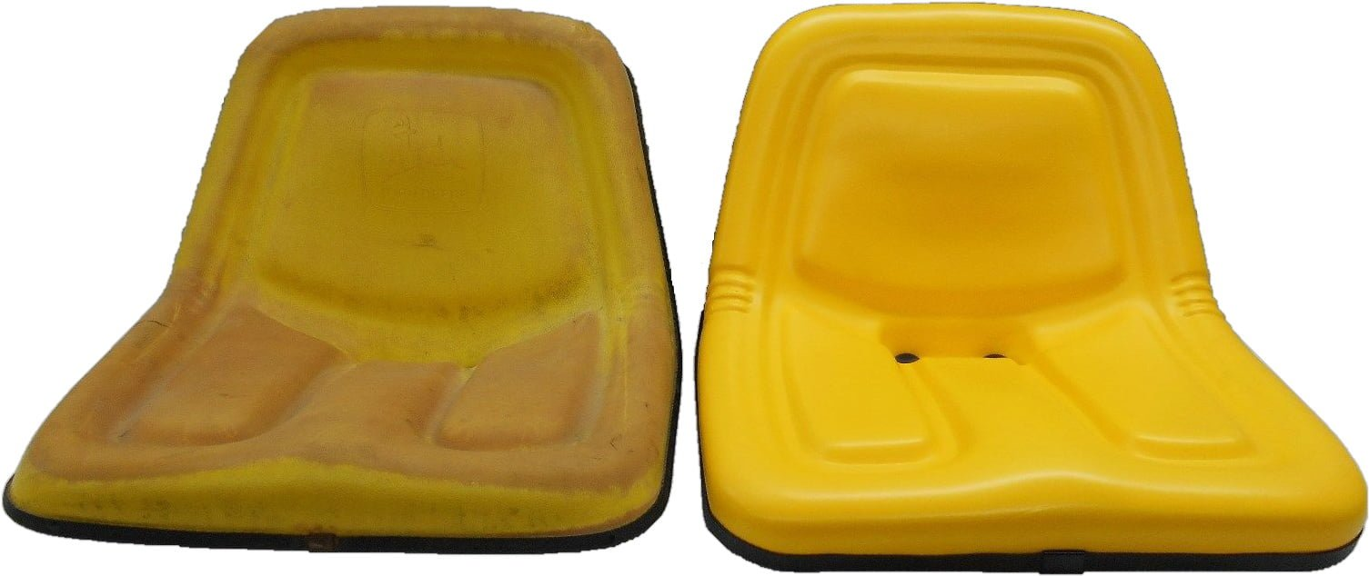 YELLOW SEAT JOHN DEERE 130, 160, 165, 214, 316, 318, 322, 330, 332, 420  STX38 MOWERS #BZ