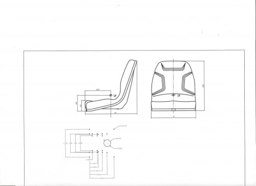 seat mahindra 1815  1816  2015  2216  2310  2415  2516  2615  2810 compact tractors  bs