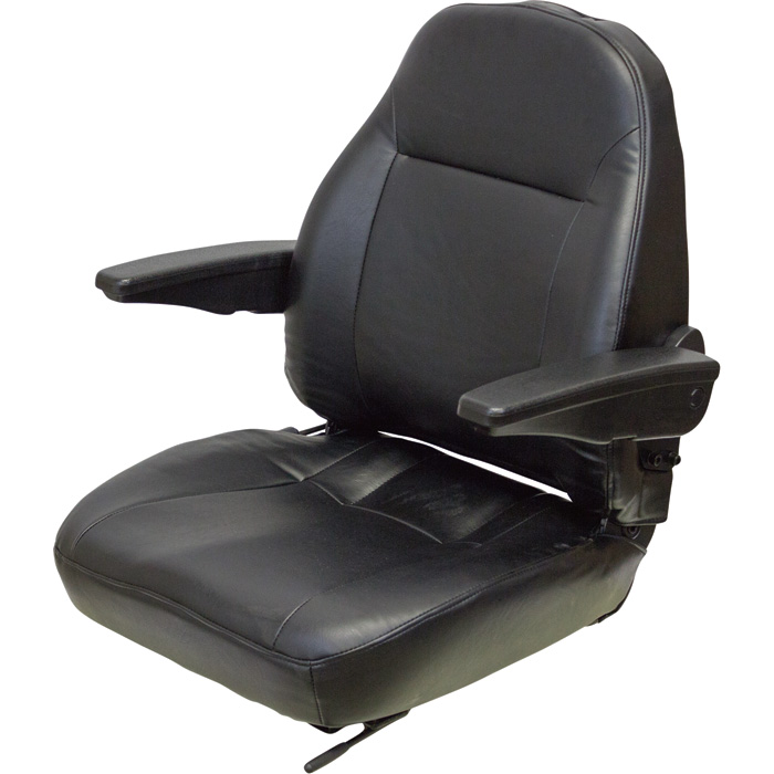 Universal Premium High Back Seat W/Arm Rests U2013 Ideal For Zero Turn Mowers,  ZTR, Cub Cadet, Kubota, Gravely, Snapper, Grasshopper (HD Vinyl) #PQ   Seat  ...