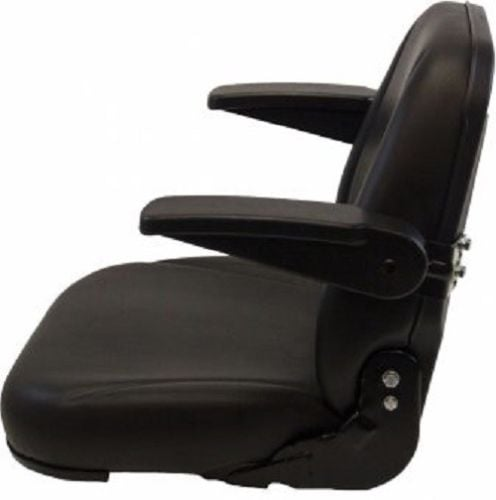 Heavy Duty High Back Black Seat W Flip Up Arm Rests For