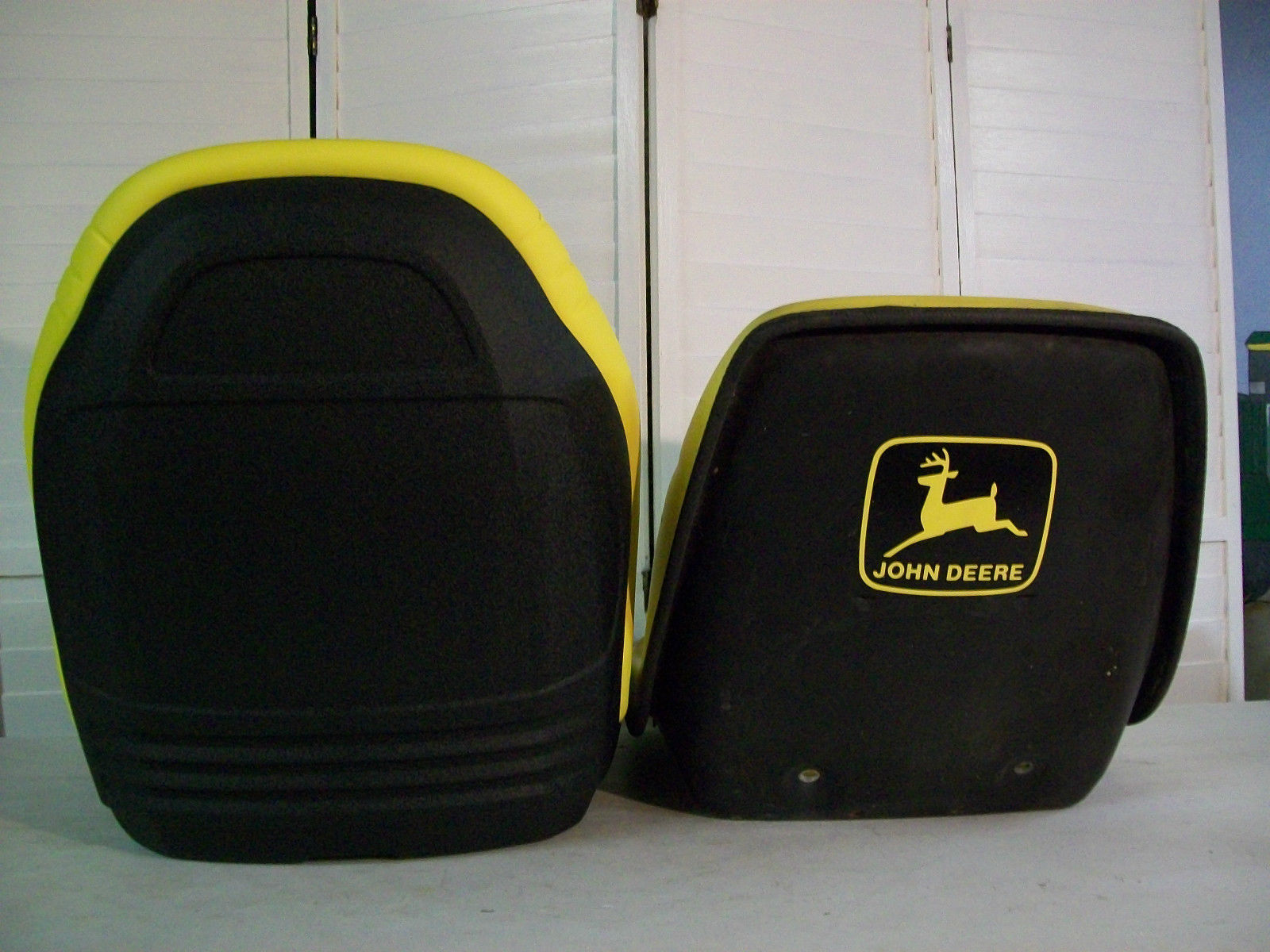 John Deere 445 Tractor Seats Replacement : Yellow seat john deere