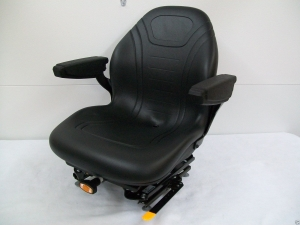 BLACK-SUSPENSION-SEAT-WARM-MOWEREXCAVATORFORKLIFTSKID-STEER-LOADERDOZER-HK-171467143611