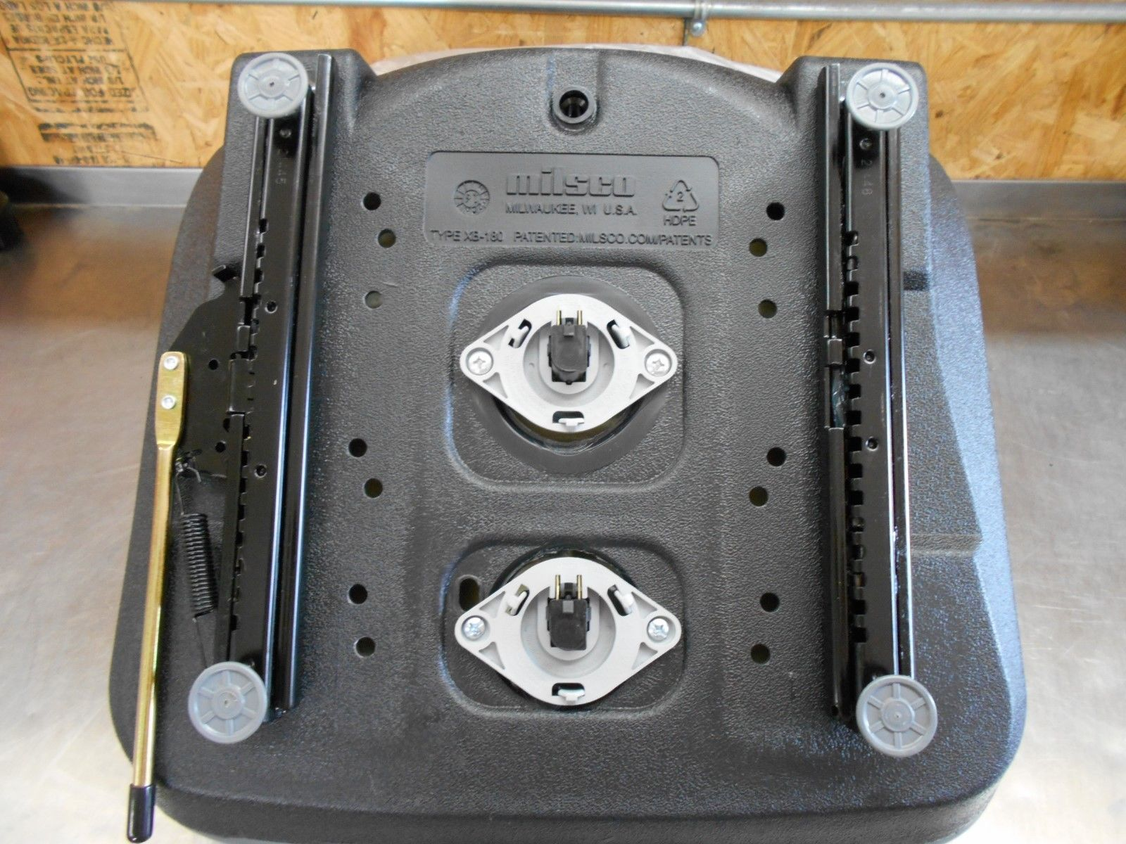 BLACK SEAT FORD NEW HOLLAND SKID STEER, COMES WITH TWO SEAT SWITCHES  INSTALLED, FITS LX465, LX485, LX565, LX665, LX865 #QJ