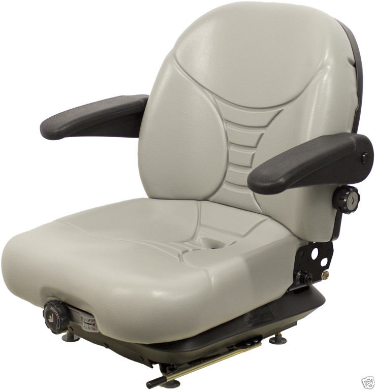 GRAY SUSPENSION SEAT, MILSCO V5300, HUSTLER, EXMARK, TORO, DIXIE CHOPPER,  ZERO TURN #OH
