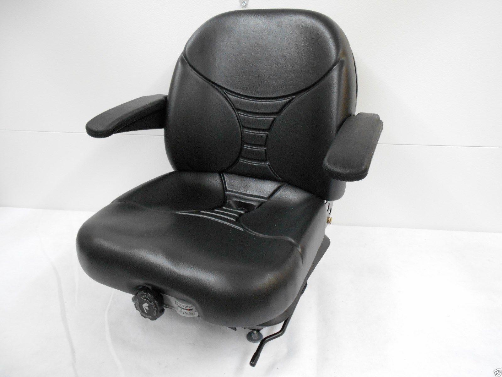 Michigan Black Seat Milsco V5300 High Back Suspension Seat W//Lumbar #15980 #HE
