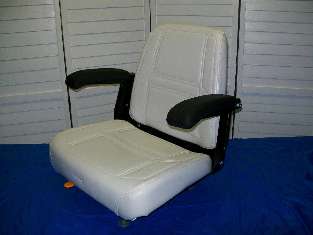 NEW WHITE COMFORT RIDE SEAT WITH FLIP-UP ARMRESTS FITS DIXIE CHOPPER ZERO  TURN MOWERS #MJ