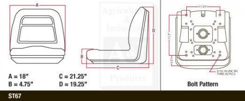 yellow seat john deere z trak m65,m655,m665,717a,727a zero turn mowers ztr  #oy