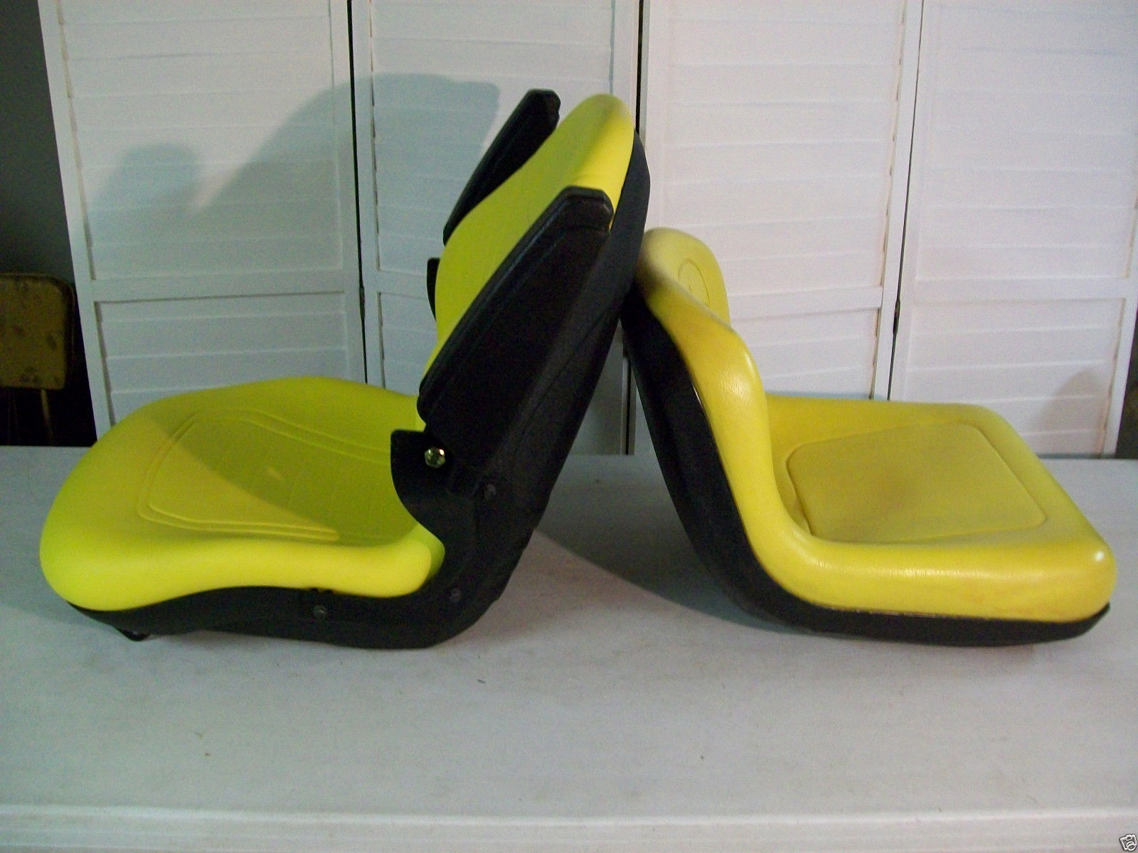 John Deere 445 Tractor Seats Replacement : Yellow seat for john deere