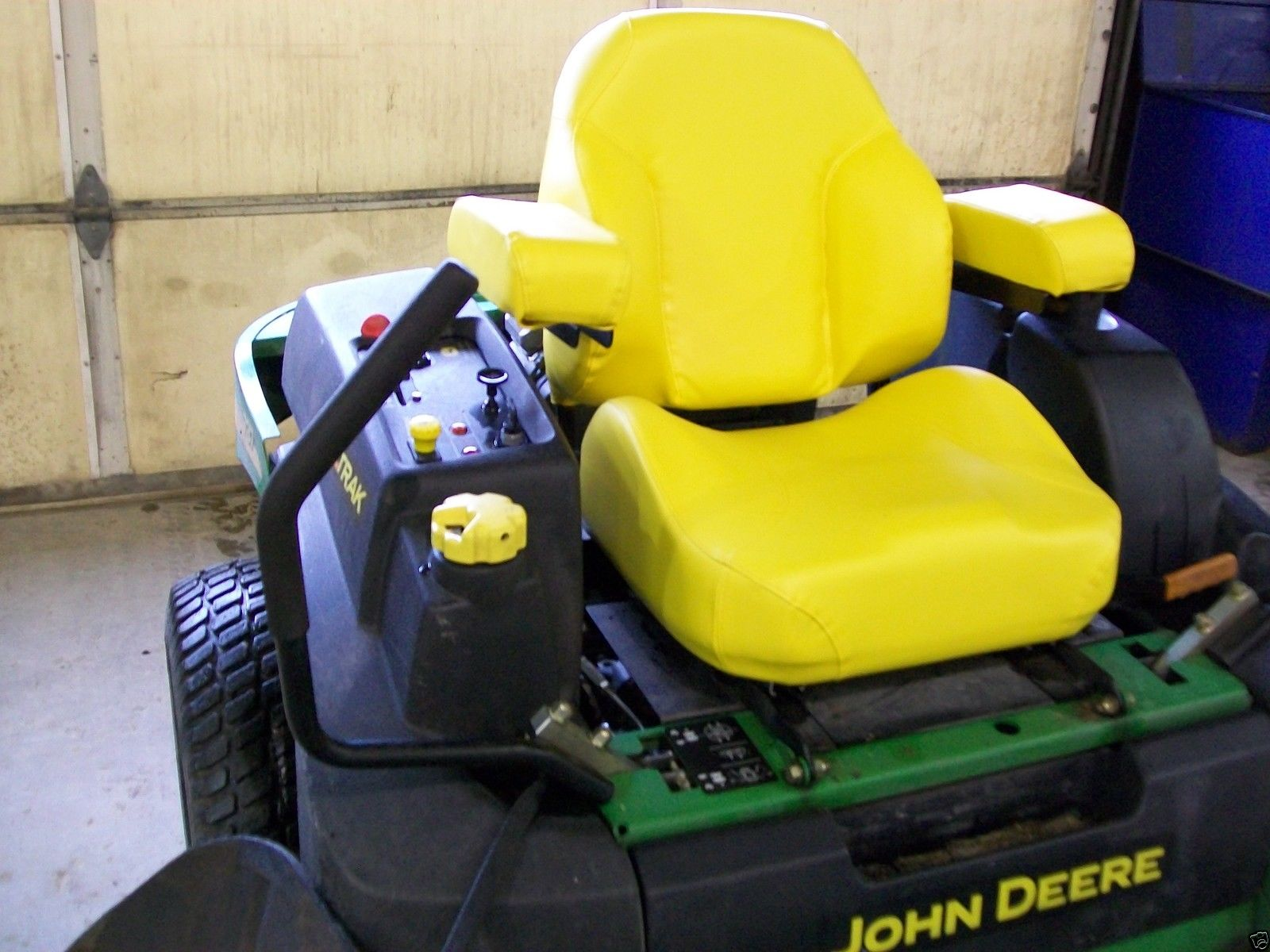 Yellow Comfort King Deluxe Seat John Deere Jd Z Trak Zero Turn 855 Engine Diagram Mowers Ztr Hs
