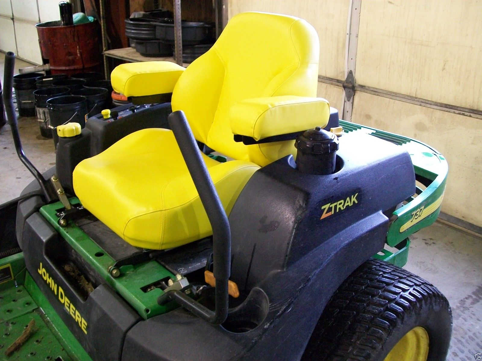 John Deere Riding Mower Seats : Yellow comfort king deluxe seat john deere jd z trak zero