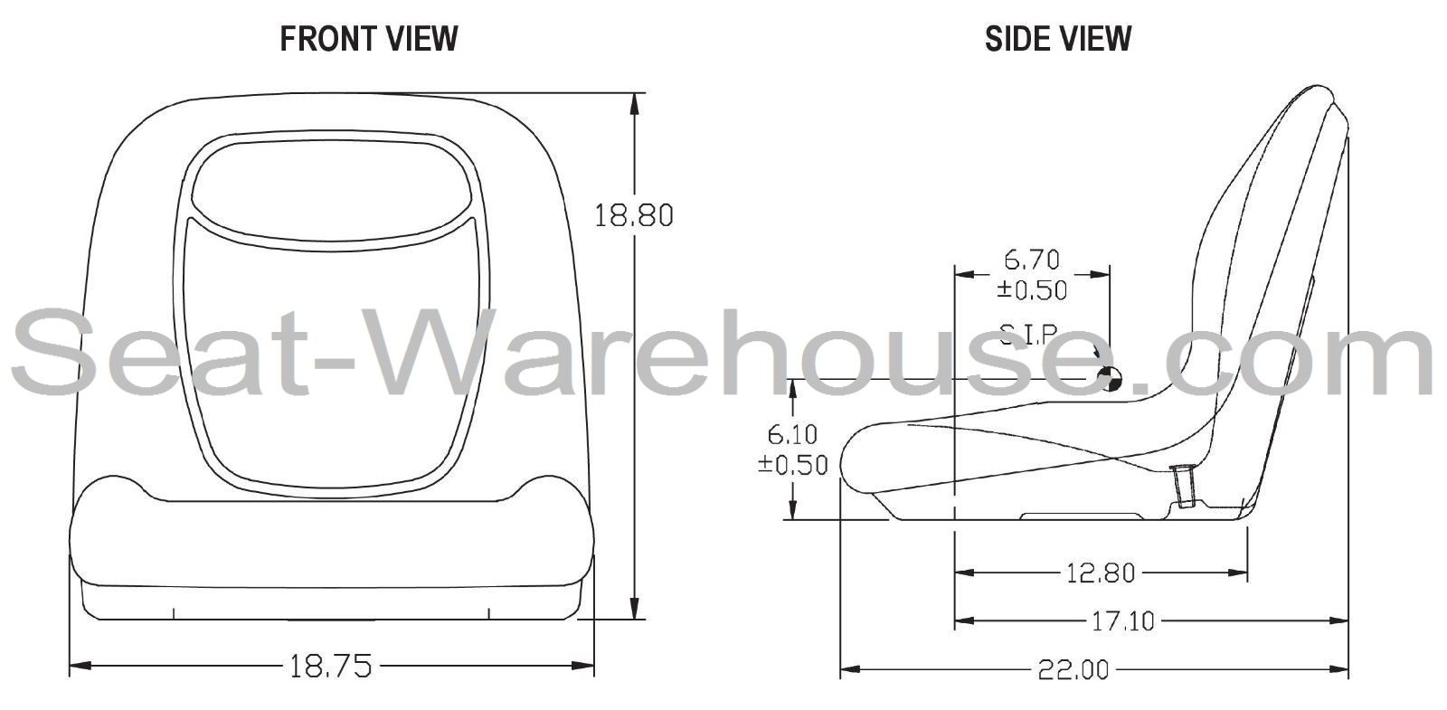 yellow high back seat w   slide track kit for case skid