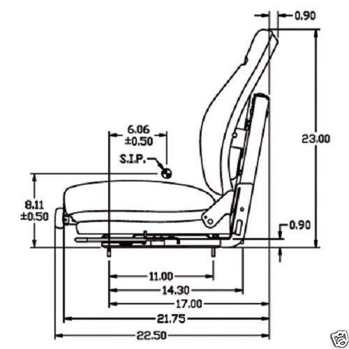 Black Suspension Seat For Cat Caterpillar Skid Steer Loader Qk X