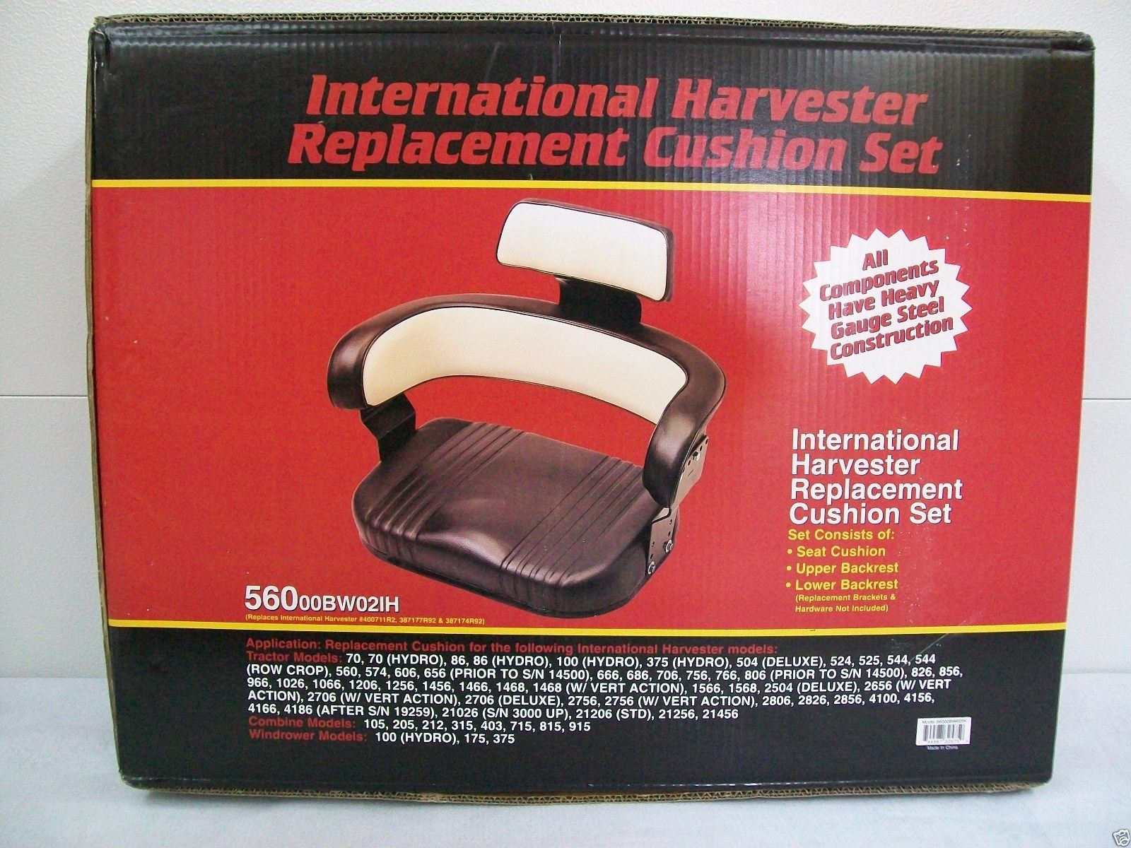 3 PIECE SEAT & BRACKETS IH INTERNATIONAL TRACTORS, 706, 806, 856, 1206,  1256, 826 #GJ