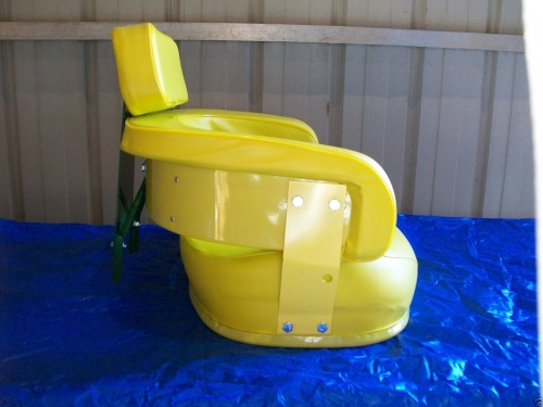 John Deere 4430 Tractor Seats Replacement : Piece yellow seat assembly john deere