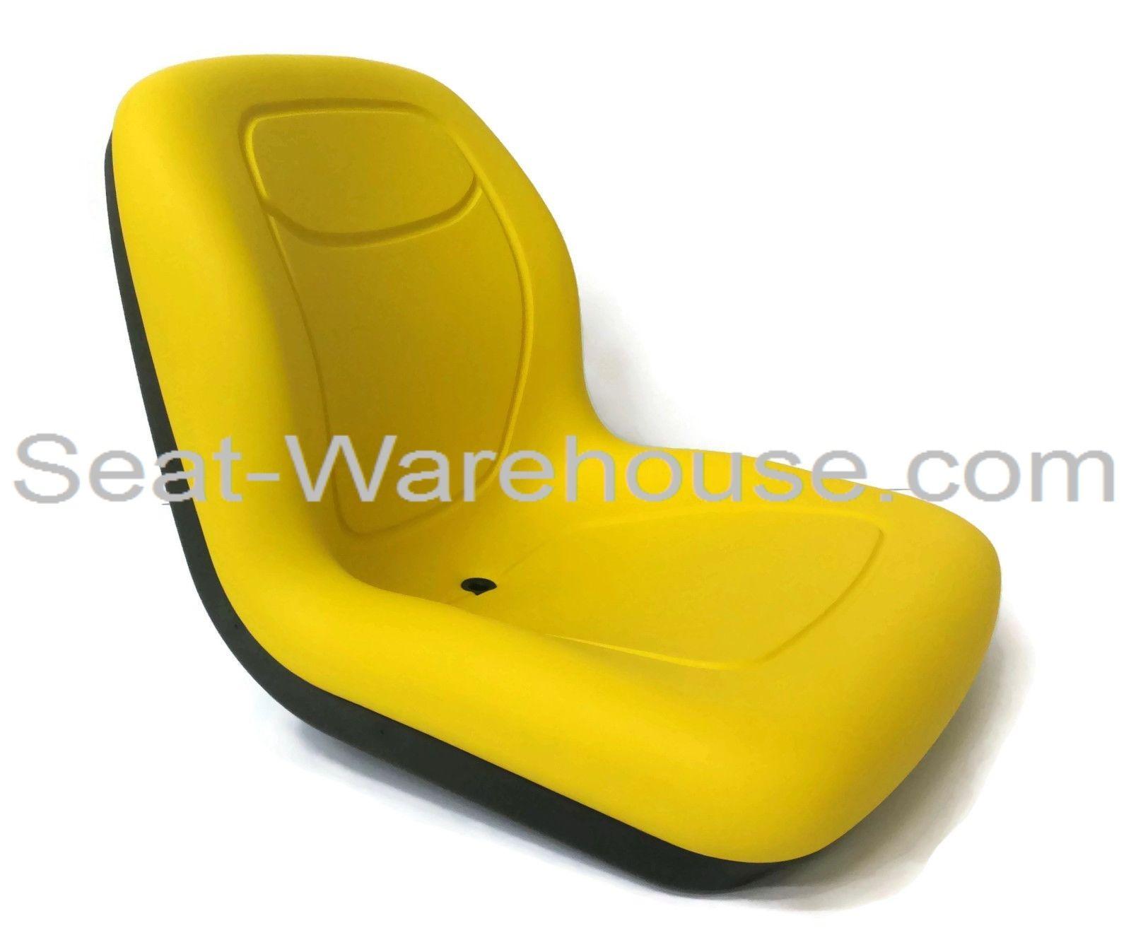 Yellow High Back Seat W Slide Track Kit For John Deere Steer Loader