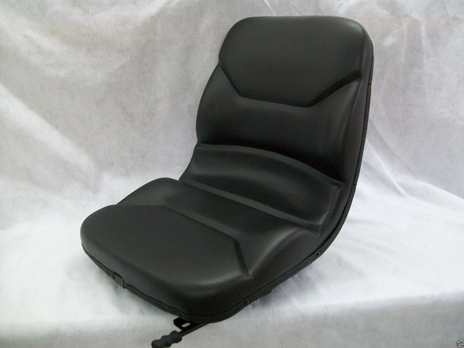 New Black HIGH BACK SEAT w// Slide Track Kit for Case Garden Tractor Made in USA