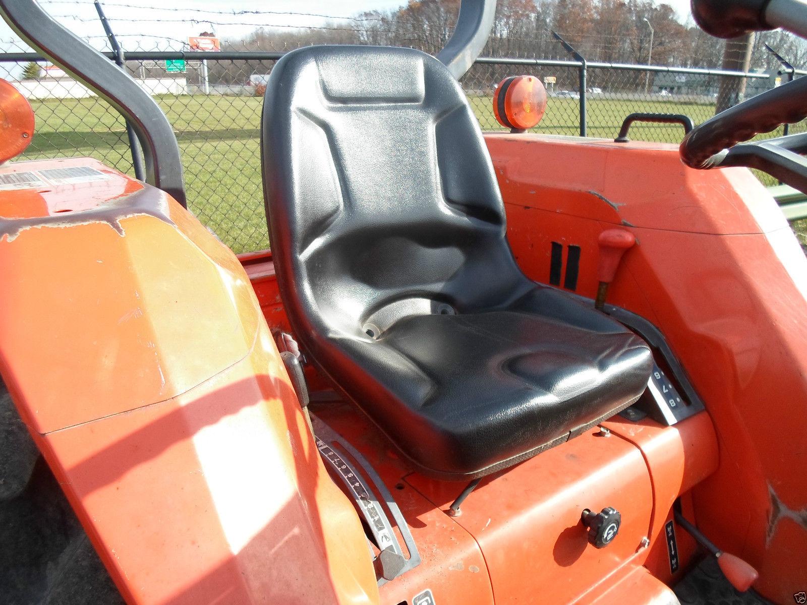 High Back Black Seat For Kubota B Series And L Compact L4200 Wiring Diagram Mounting Patterns Ir