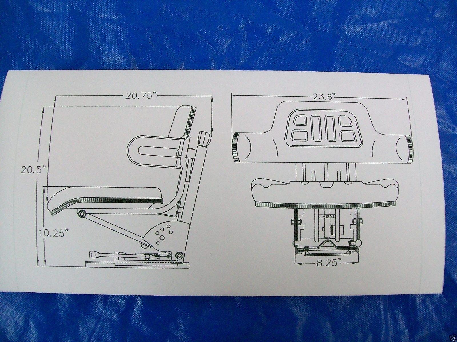SUSPENSION SEAT JOHN DEERE TRACTOR YELLOW 1020, 1530, 2020, 2030, 2040,  2150 #IE