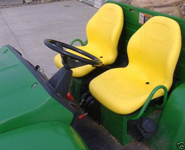 TWO-2-HIGH-BACK-YELLOW-SEATS-625I825I855D550850I-6X4-JOHN-DEERE-GATORS-JF-151211712605