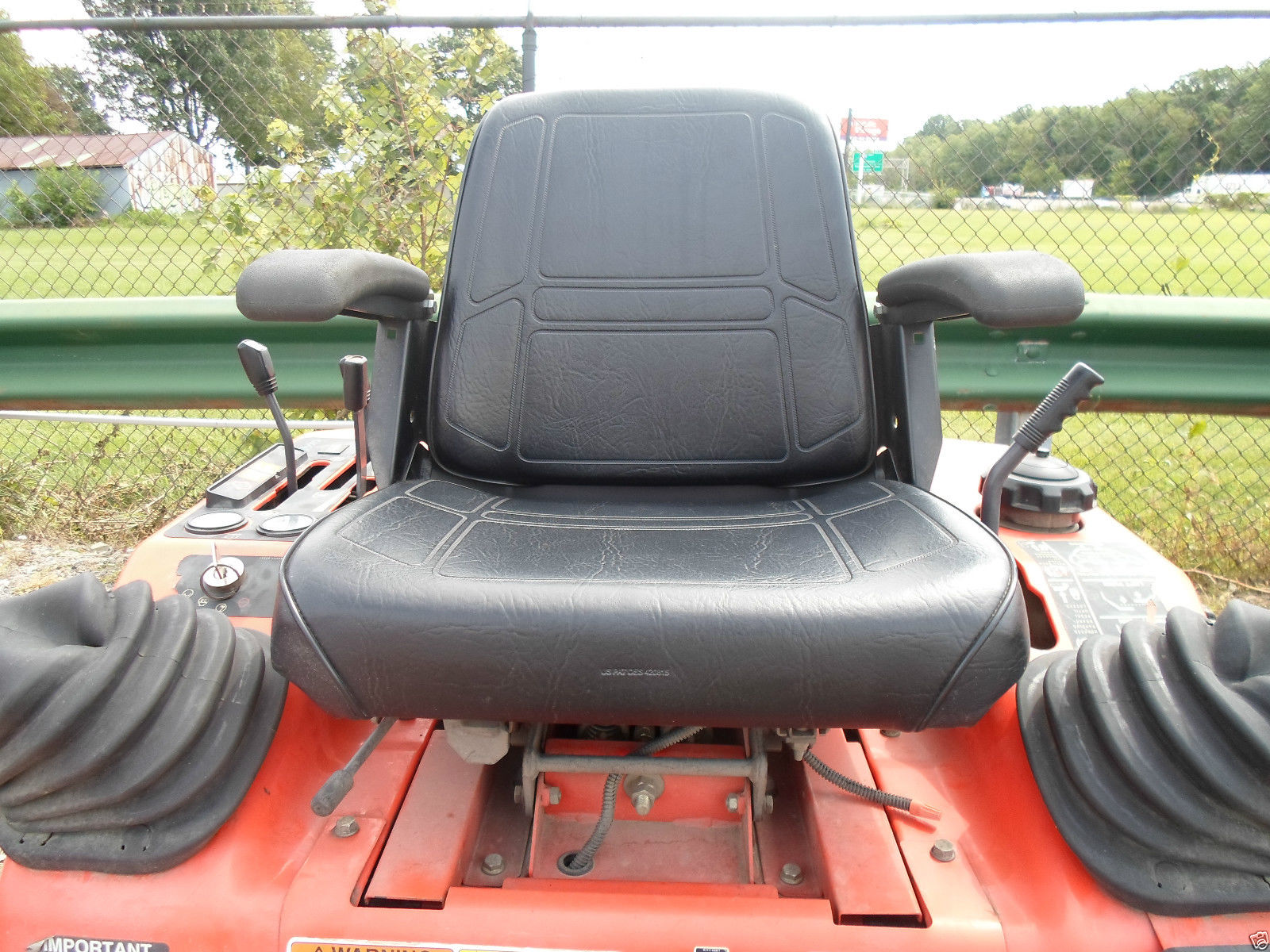 Black High Back Seat Kubota Zd 21 25 28 Zero Turn Mowers