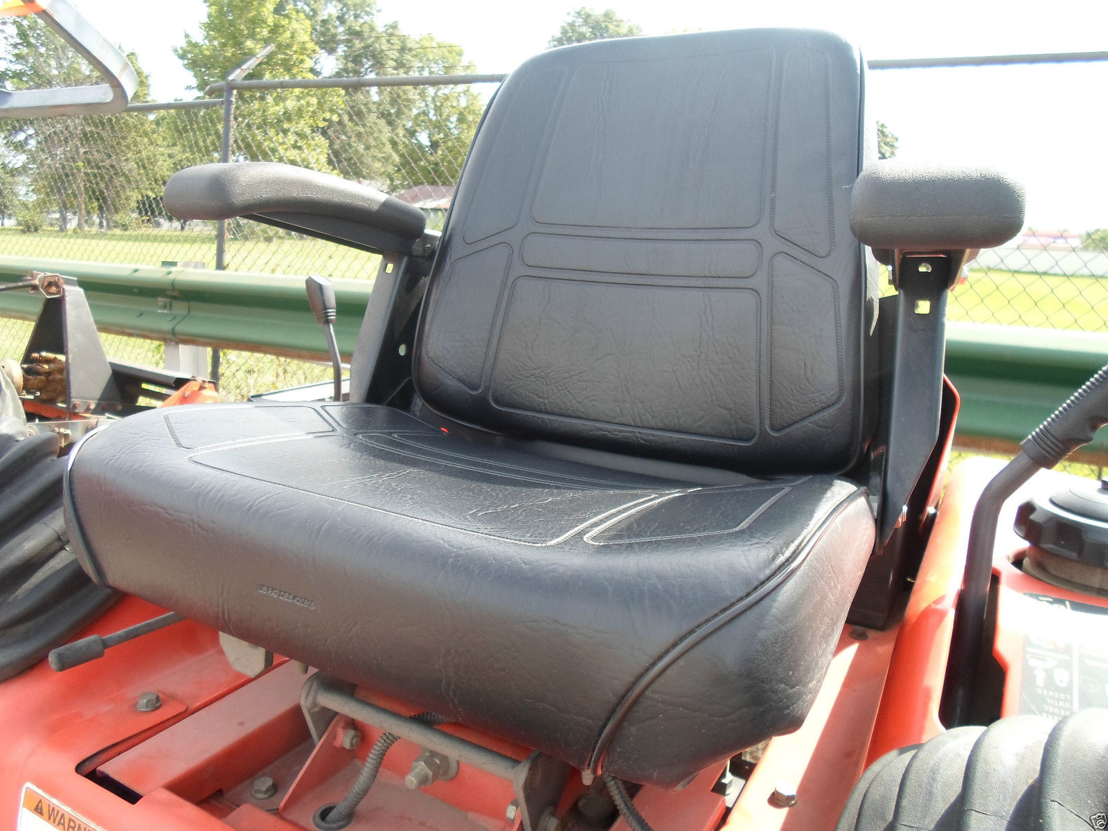 New Black HIGH BACK SEAT for Woods ZTR Zero Turn Lawn Mower Rider Made in USA