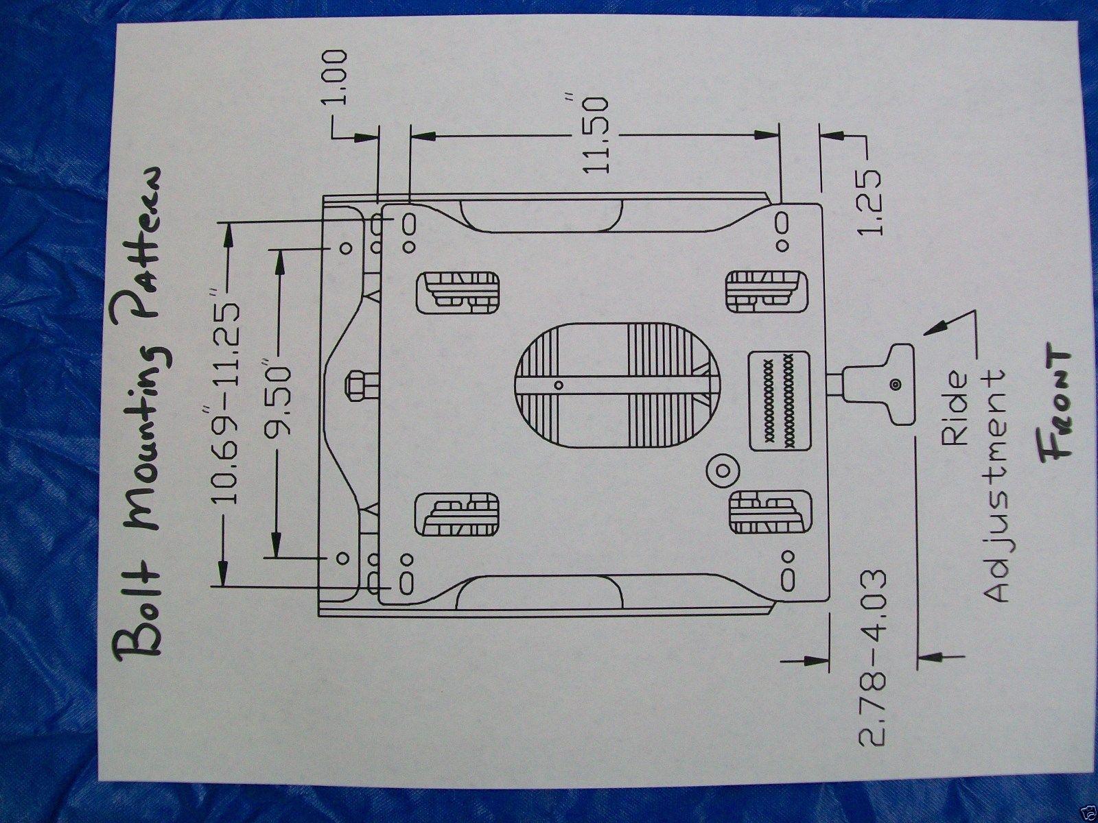 Seat Suspension Kit Fits John Deere Z915b Ztrak Zero Turn Mowers Fe Z425 Wiring Diagram