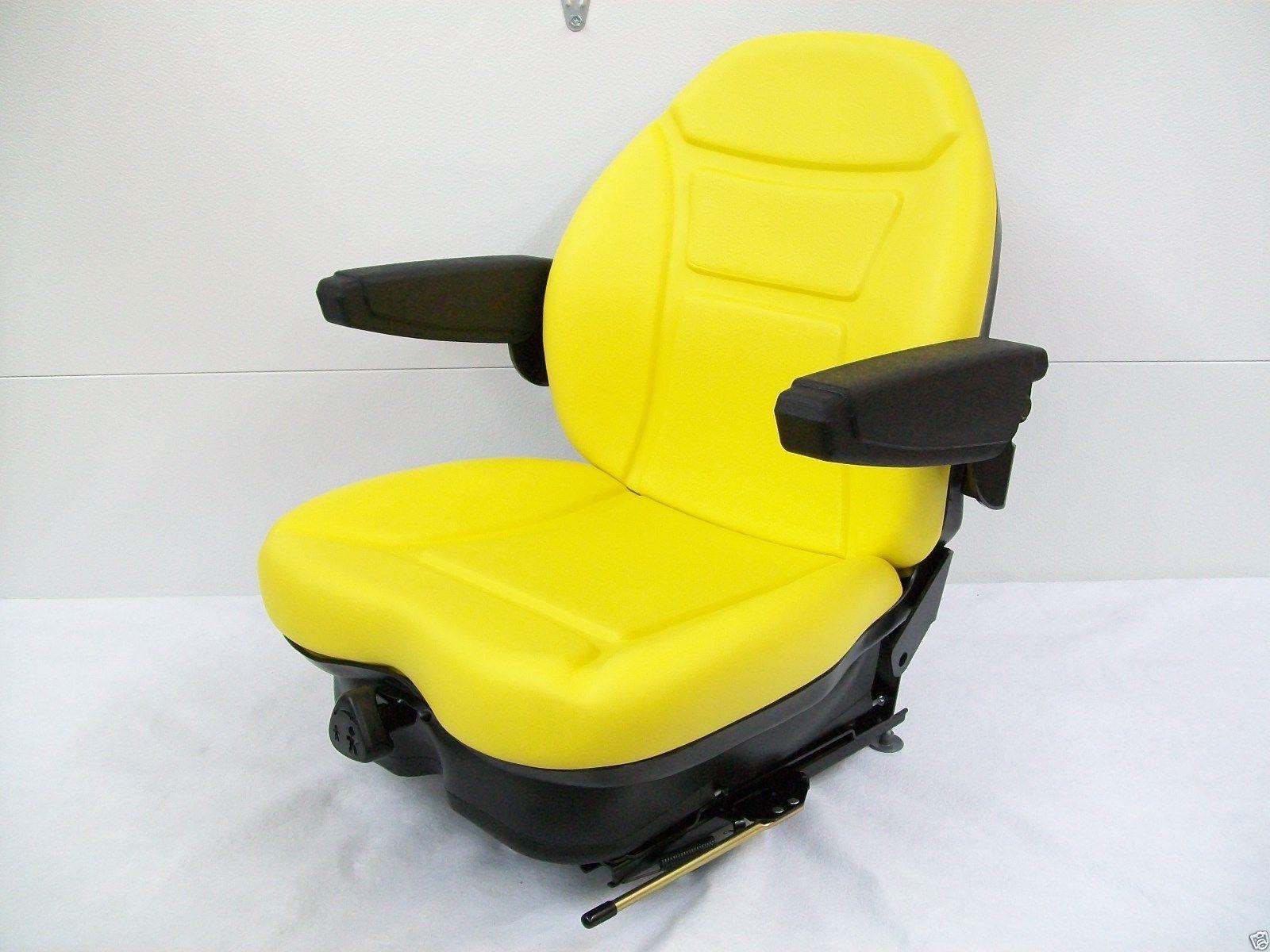 With John Deere Seats Contorls : Yellow suspension seat jd john deere front mower turf