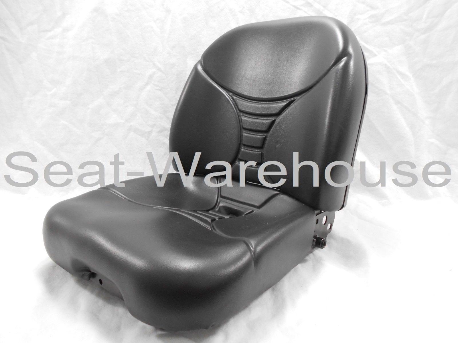 BLACK REPLACEMENT SEAT FITS KUBOTA BACKHOE B26, L39, L45, L47, M59, M62 #QU2