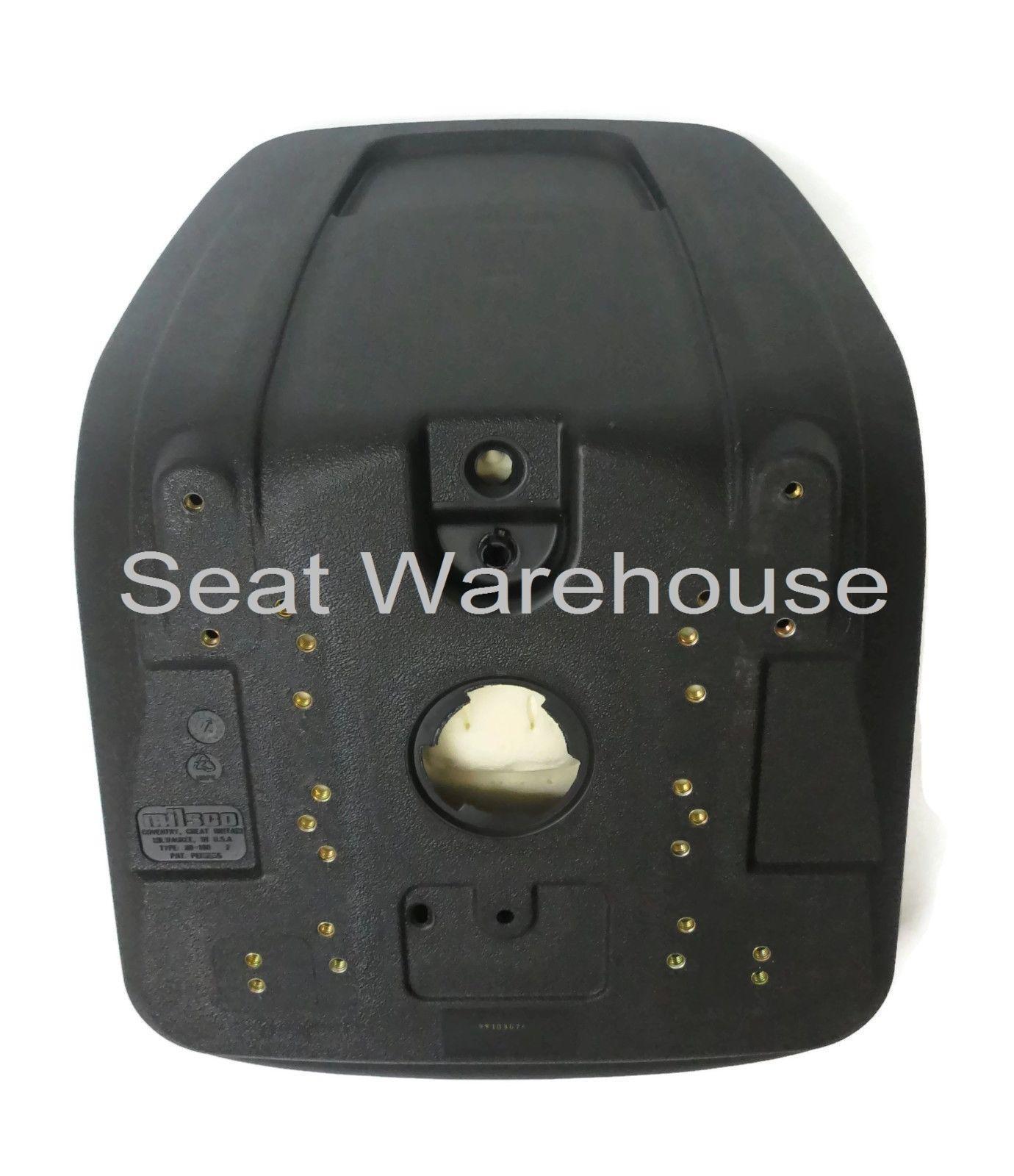 Black HIGH BACK SEAT fits BAD BOY MOWERS MZ, MZ MAGNUM made in USA MILSCO  #INA