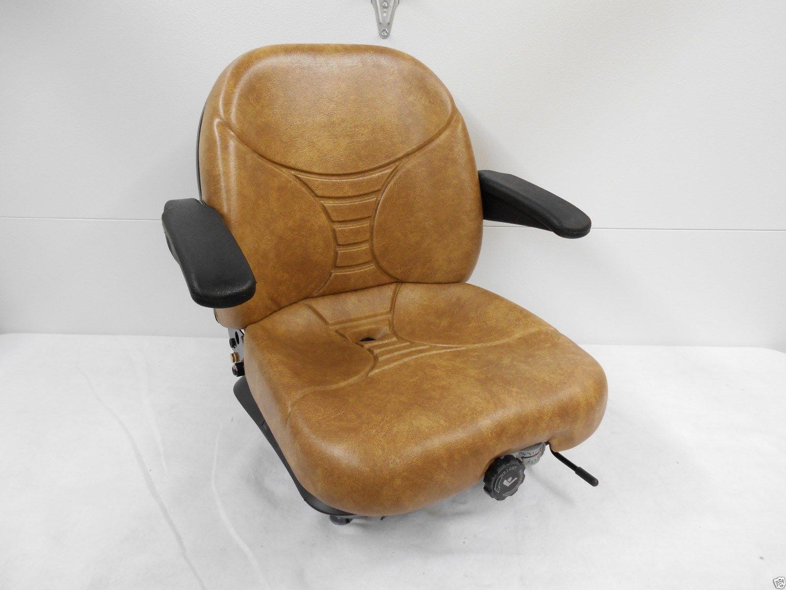 MILSCO V5300 TAN MECHANICAL SUSPENSION SEAT FITS SCAG, ZERO TURN, MOWERS #HA
