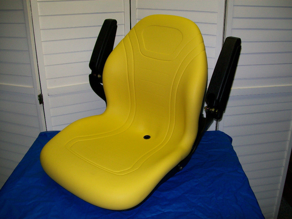 John Deere 870 Tractor Seat : Yellow high back seat john deere