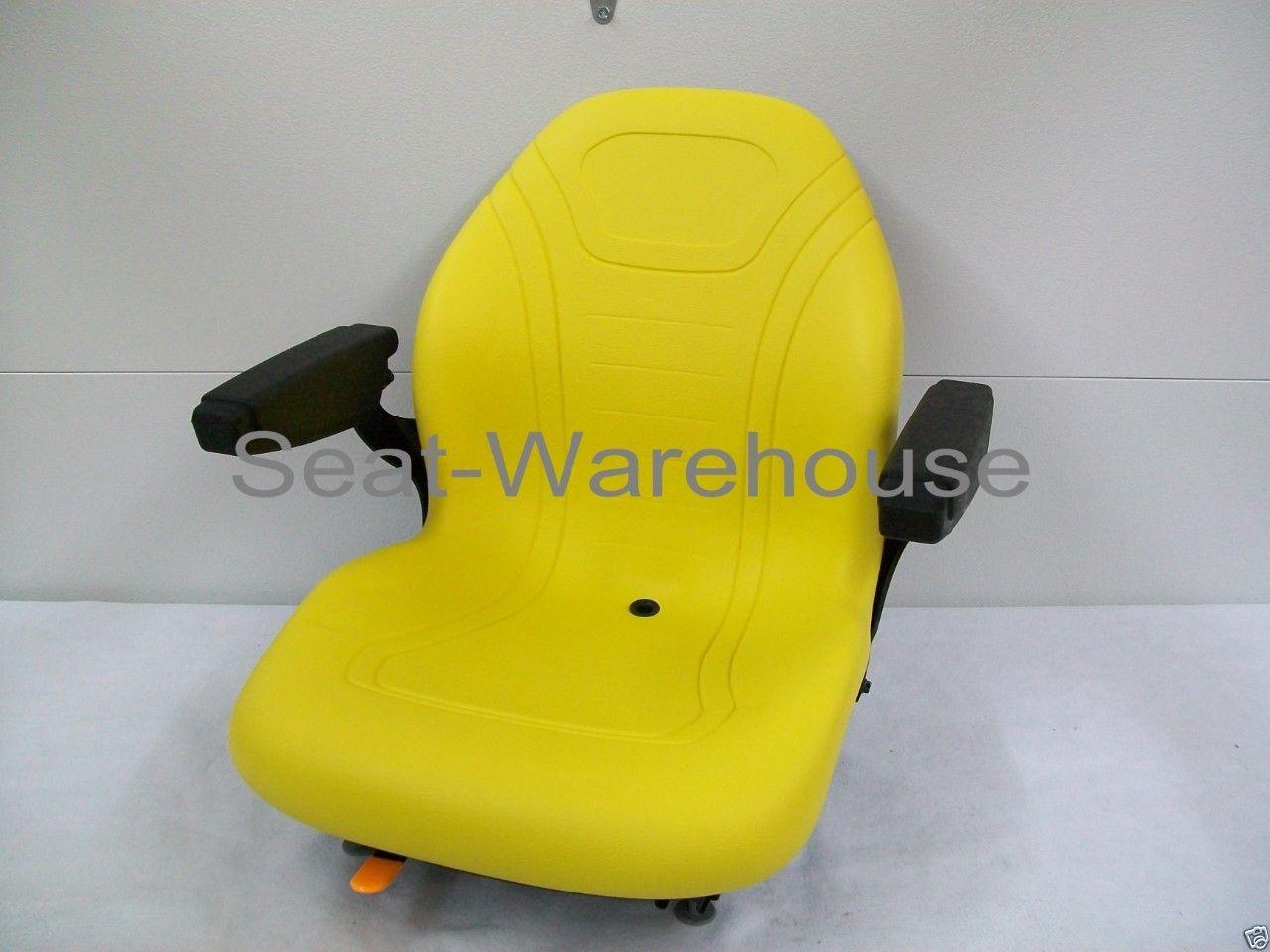 YELLOW SEAT FITS JOHN DEERE F620,F680,F687,717A,727A,737,757,M653,M655,M665  #LS