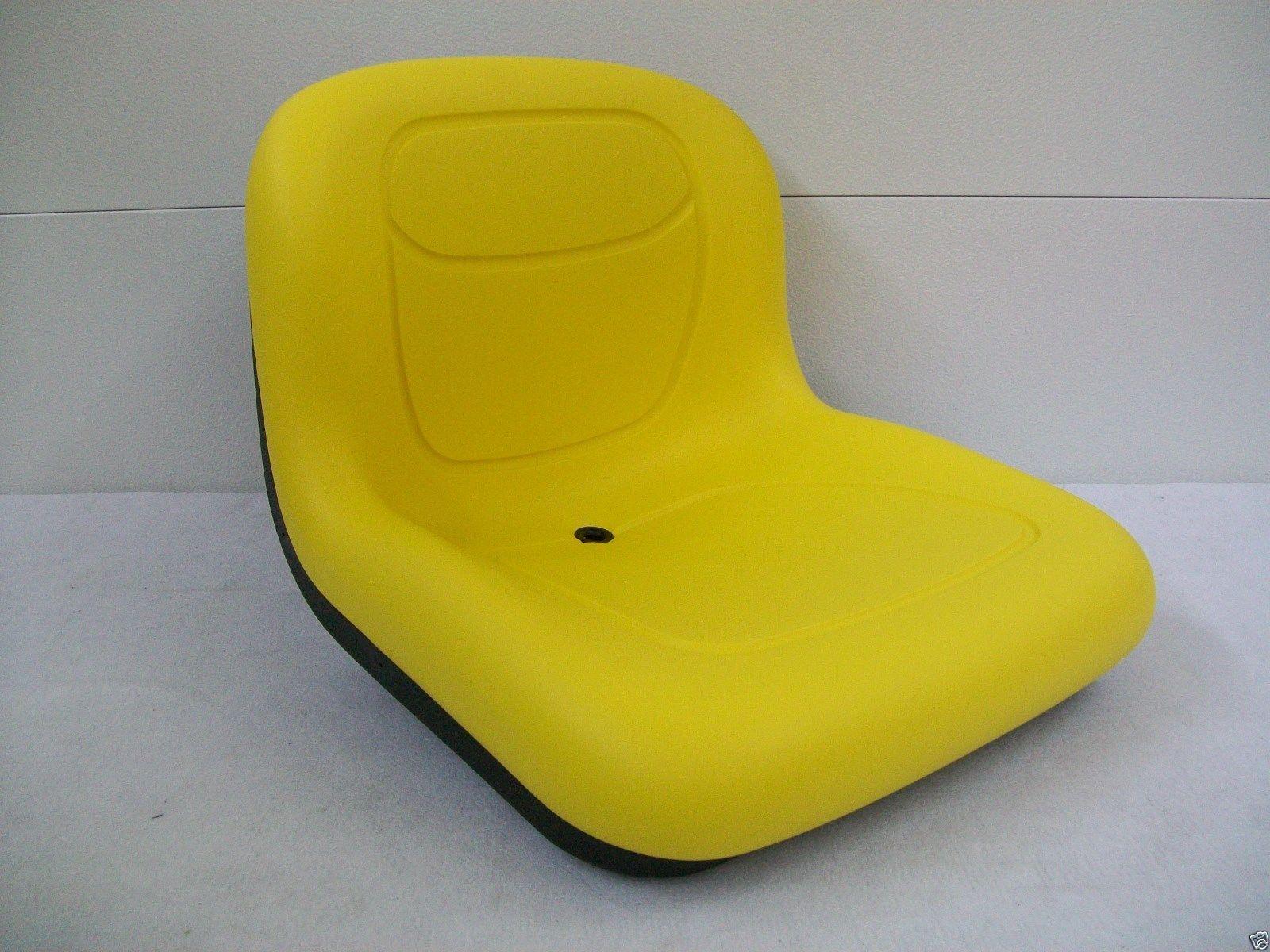 YELLOW SEAT JOHN DEERE 130, 160, 165, 316, 318, 322, 330, 332, 420, 430,  STX38 MOWERS #BA